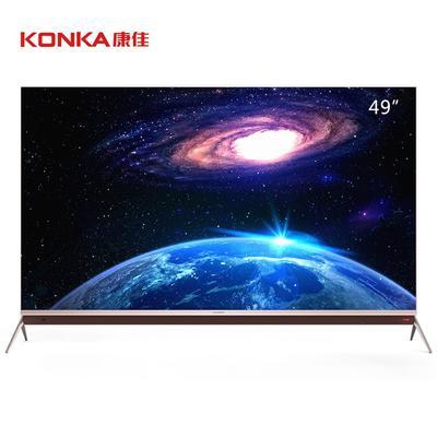 ¥3499 康佳(KONKA) LED49M1 49英寸 4K超薄 电视 多屏互动 玫瑰金
