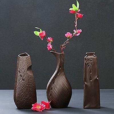 99元 功远斋 紫砂禅意水培花瓶(三件套)