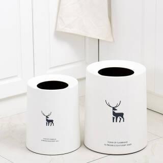 莱朗 北欧风驯鹿印花无盖垃圾桶  券后41.9元