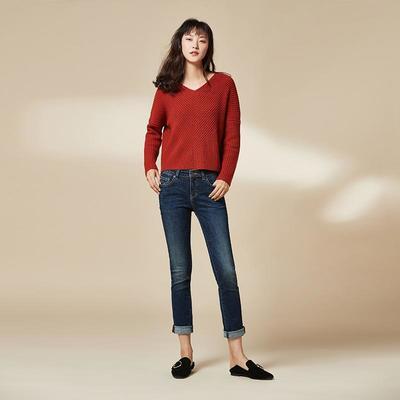 网易严选 女式基础修身直脚牛仔裤  139元包邮