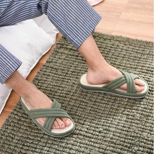 网易严选 新疆棉家居拖鞋 29.9元 日式叙旧风格