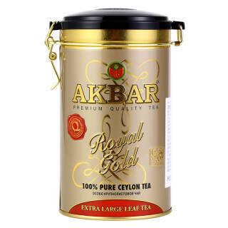 斯里兰卡进口 阿客巴(AKBAR)金罐锡兰红茶(大叶) 150g/罐 *2件 79.8元(合39.9