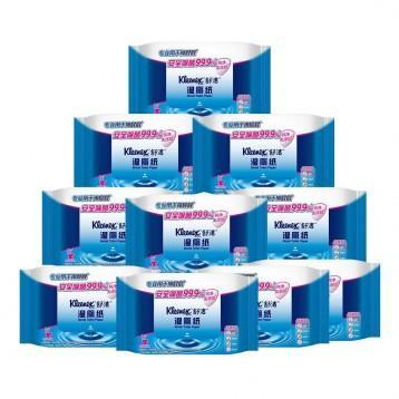 仅限今日!Kleenex舒洁 湿厕纸40片x10包装 亚马逊中国 4.2折 ¥79.9
