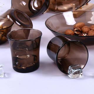 DURALEX 多莱斯法国进口餐具钢化玻璃杯子水杯果汁杯210ML 1011 210ml 1011C 咖啡色