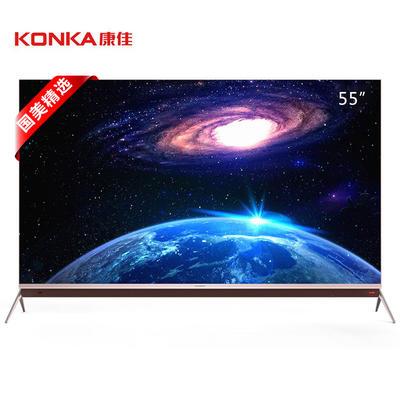 ¥4347 北京:康佳(KONKA) LED55M1 55英寸 4K超薄 电视 多屏互动 玫瑰金