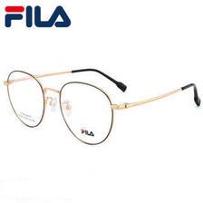 FILA斐乐光学镜框架眼镜女超轻平光眼镜可定制防蓝光辐射近视眼镜 7139亮黑