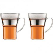 限时¥245.85元:BODUM ASSAM 玻璃咖啡杯茶杯套装350ml*2件装 亚马逊海外购 海淘