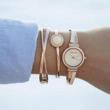 Anne Klein 安妮·克莱恩 AK/3292BKST 施华洛世奇水晶 女士手镯手表套装 ¥234.42