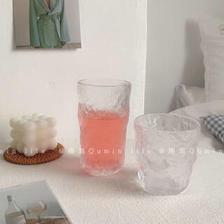 一川好物优选 玻璃杯水杯家用茶杯简茶杯ins风酒杯女牛奶杯男啤酒杯果汁杯
