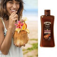 安全晒出阳光肤色:Hawaiian Tropic 夏威夷热带 SPF4 美黑防晒鞣制油 200ml 亚马