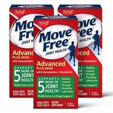 好价!Move Free 益节葡萄糖胺和软骨素 msm关节维生素片120粒*3瓶 亚马逊海外
