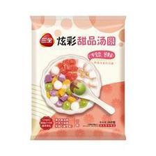 京东PLUS会员:三全 炫彩甜品汤圆 紫薯、巧克力口味 260g *8件 + 玫瑰红豆口