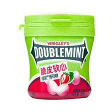 DOUBLEMINT 绿箭 绿箭(DOUBLEMINT)脆皮软心薄荷糖草莓薄荷味80g单瓶装 办公室