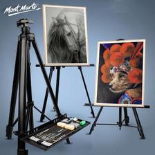 MONT MARTE 蒙玛特 素描画架画板套装油画架子写生便携折叠 金属画架4K画板画