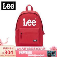 Lee 双肩包 休闲潮牌情侣包包大容量韩版帆布旅行可装15.6寸电脑包防水男女