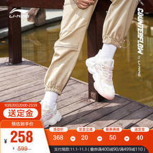 李宁(LI-NING) 休闲鞋女2021新品秋冬CF反光减震回弹运动鞋官方旗舰网AGLR136