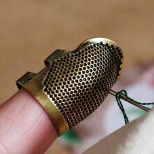 木杰 可调节黄铜顶针指套9.9元包邮