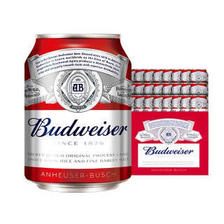 Budweiser 百威 淡色拉格啤酒 255ml*24听 整箱装 mini罐 69.15元(需买2件,共138.3