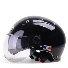 YEMA 野马 332摩托车电动车头盔女哈雷半盔男 四季双镜片电瓶车安全帽 夏季