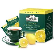 AHMAD 亚曼 英国亚曼AHMAD TEA 柠檬红茶 香柠味红茶便携袋泡原装进口2g*10包 柠