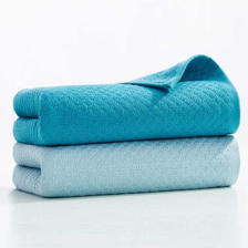 洁玉 DS1-022F 毛巾套装 2条装 34*72cm 浅蓝+深蓝  券后12.45元