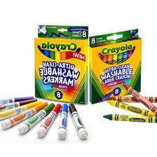 绘儿乐(Crayola) JDS-003 8色水彩笔+8色蜡笔 可水洗 17.7元(需买2件,共35.4元
