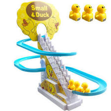 迪士尼(Disney) 小鸭子爬楼梯轨道玩具 单轨道3只小黄鸭电池版  券后29.9元