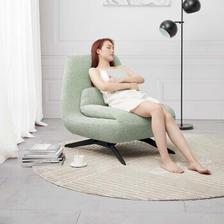 KUKa 顾家家居 XJ 北欧轻奢绵羊绒旋转底座沙发 绿色 ¥4079