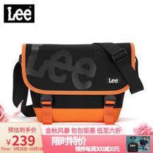 Lee 斜跨包 潮牌邮差包男女同款单肩包休闲帆布潮流小挎包学生书包韩版旅