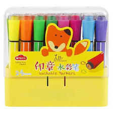 M&G 晨光 文具24色印章水彩笔 纤维头易水洗绘画彩笔 小狐希里系列儿童涂鸦