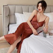 PEANOJEAN 6755 法式吊带丝质睡裙 98元(包邮、需用券)