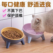 DAODANGUI 捣蛋鬼 猫碗狗碗猫食盆保护颈椎防打翻斜口喝水小型犬猫咪盆饭碗 2