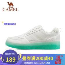CAMEL 骆驼 运动鞋女士2021夏季新款时尚轻便潮休闲板鞋小白鞋 A11613624,白/蓝