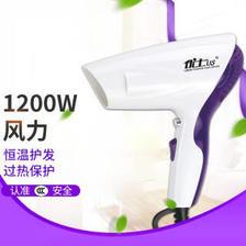 利尔仕 电吹风机家用静音小型便携式吹风筒 紫白色(吹风机)  券后79元
