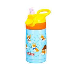 努比(Nuby)儿童吸管杯 宝宝运动水杯 婴儿保温学饮杯300ml手提式儿童保温