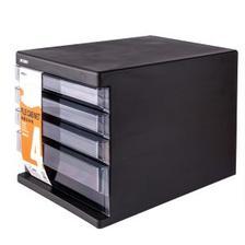 PLUS会员:M&G 晨光 ADMN4033 四层桌面文件柜 黑色 30元