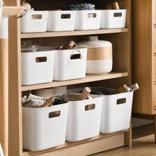 久梨沙 塑料收纳篮 大中小号 3件套 25.63元(需买3件,共76.9元,需用券)