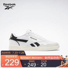锐步(Reebok) ROYAL TECHQUE T男女时尚低帮休闲鞋板鞋 FZ0426_白色/黑色 35(尺码