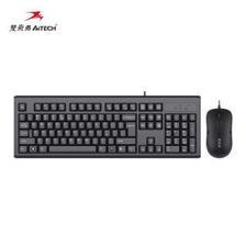 双飞燕(A4TECH) WKM-1000 有线键鼠套装 黑色  券后44元