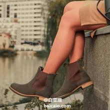 销量第一,ECCO 爱步 Sartorelle 25 型塑系列 女士反绒真皮切尔西短靴 266503 ¥53