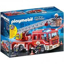 297.48元英国直邮!Playmobil 摩比世界 带消防梯的消防车(带灯光和声音)4岁