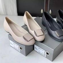 2021春季新款,Ecco 爱步 Anine 安妮 女士仙女真皮浅口粗跟休闲鞋 208043 ¥475.88