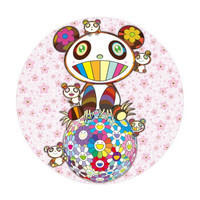 墨斗鱼艺术 村上隆 熊猫樱花版画 日本直邮 手工实木框装裱 ¥20000