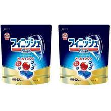 日版,Finish 亮碟 ALL IN 1系列 多效合一浓缩洗涤块洗碗块42块*2件 ¥154.66