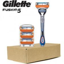 Gillette 吉列 Fusion5【限时¥77.15】男士剃须刀 刀柄 4片刀芯 亚马逊海外购 海
