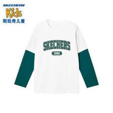 斯凯奇(SKECHERS) Skechers斯凯奇童装男大童t恤时尚舒适儿童长袖潮流L321B085 0