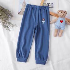 纯棉儿童裤子 单裤深兰色 80CM 11.33元(需买3件,共34元,需用券)
