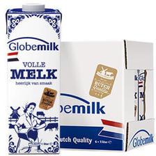 荷兰原装进口 荷高Globemilk 3.6优乳蛋白全脂纯牛奶1L*6 整箱装 *3件 163.29元(